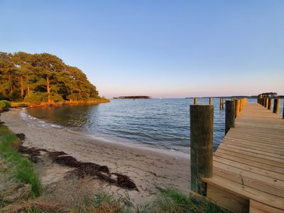 Spacious Waterfront Home secluded on 60 ac with Beach and Boat Ramp