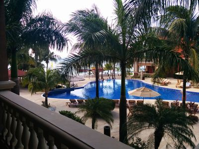 Gorgeous Ocean view from our large 2nd floor balcony