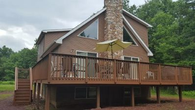 Photo for Beautiful new four season chalet  in lake community with WIFI, central air