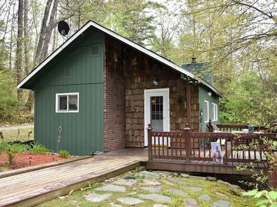 Photo for Cozy White Mountain Cabin with Hot Tub, Fireplace and Privacy!