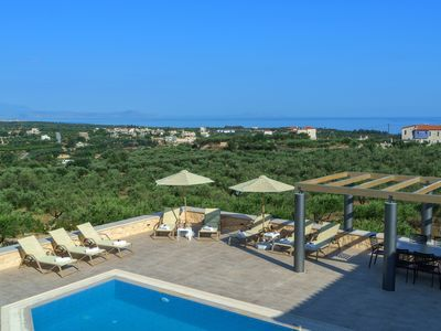 Photo for New Luxury Stonebuilt Villa Aria with Private Pool+Childrens Area, 5km to Beach!