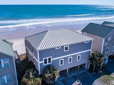 Photo for TREASURE: 5 BR / 4.5 BA oceanfront in Surf City, Sleeps 18, Elevator