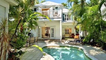 The pool area at Bahamian Bamboo is the perfect private oasis for your vacation...