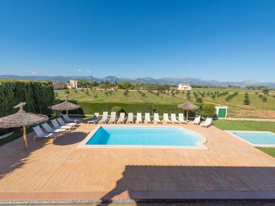 Photo for This 12-bedroom villa for up to 24 guests is located in Sencelles and has a private swimming pool, a