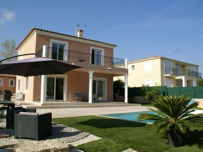 Photo for Modern villa with private swimming pool in ideal location between Cannes and Nice!