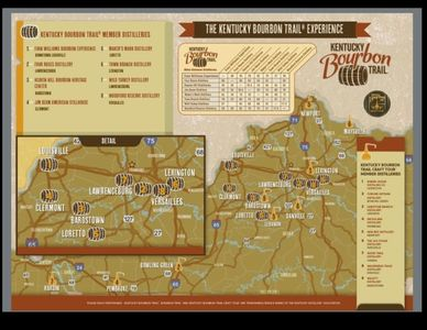 Lawrenceburg, Ky is home to 2 bourbon distilleries:  Wild Turkey & Four Roses!
