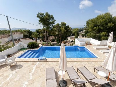 Photo for La Aldaba, luxurious Ibizan villa with sea views, offers May