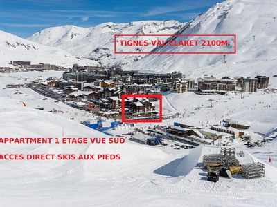 Photo for Tignes Val Claret 4 pers exceptional location !!!  immediate access