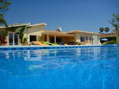 Photo for Fab Modern Beachside Villa, large Pool (heating opt) big Garden, Air-Con, WiFi