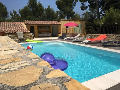 Photo for Provencal house with lots of charm and private pool on a 1,5 acres lot
