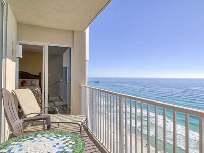 Photo for Beautiful 15th Floor GULF FRONT Condo!!  Includes Chair Rental Set!