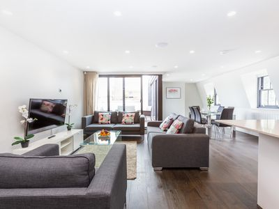 Photo for PENTHOUSE FLAT WITH PRIVATE TERRACE IN THE HEART OF LONDON - SOHO - FITZROVIA!
