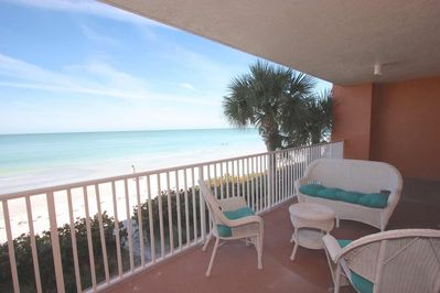 Large Private Patio with Seating for 5-Overlooking the Amazing Gulf of Mexico in Redington Beach, FL