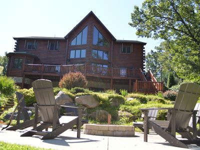 Photo for Castle Rock Lakefront home - As seen on HGTV's Log Cabin Living