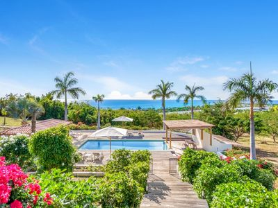 Villa La Hacienda -  Ocean View - Located in  Magnificent Terres Basses with Private Pool