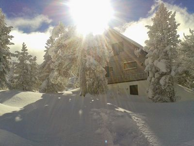 Photo for Charming chalet sleeps 10 at the Pierre Saint Martin (Pyrenees) ski slopes