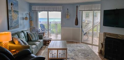 Photo for Stunning Ocean Front Condo (Two King Beds) with Cottage Charm
