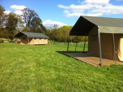 Photo for Safari tent  with swimming pool on a working farm, sleeps 6