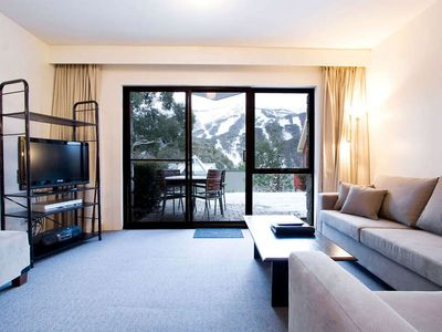 Photo for Patio apartment opening straight out to ground level in the heart of Thredbo