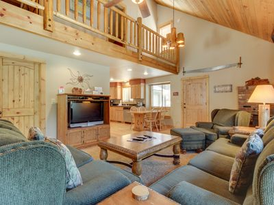 Photo for Family-friendly cabin w/ fireplace in a great location - SHARC passes included!