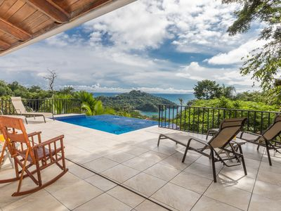 Photo for Infinity pool, Huge Ocean/sunset view, Private estate, Walk to Everything