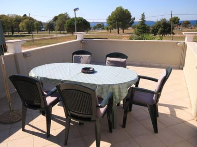 Photo for Two bedroom apartment with terrace and sea view Fažana (A-7205-a)