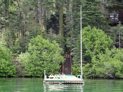 Photo for 2 bedroom + Loft, 2 bath, sleeps 8. Donner Lakefront w/private dock DLR#013