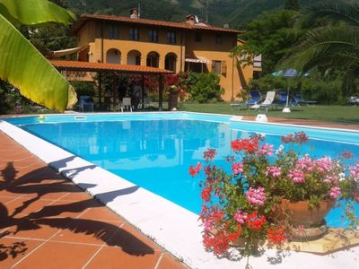 Photo for CARNASCIALE, tiny village between the green hills  with  Pool in the great garden