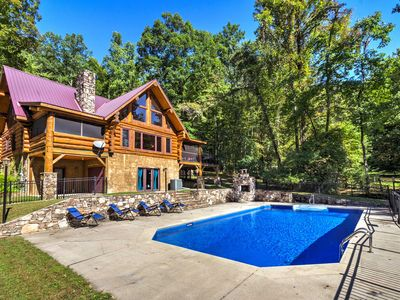 Photo for Upper Lodge Brevard Cabin on 80 Acres w/ Pool!