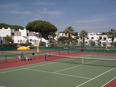 View of the tennis courts