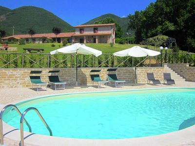 Photo for Agritourismo with swimming pool and panoramic view of the Sabina region.