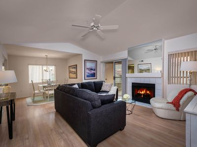 Photo for NEW LISTING! Comfortable condo w/shared heated pool, hot tub & great location