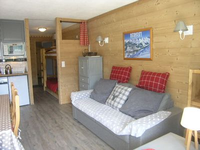 Photo for Meribel village, 4/6 pers, 35 m², 250m from the slopes, panoramic view