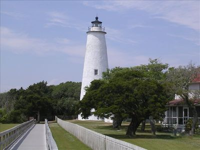 Ocracoke Lighthouse Right Down the Street