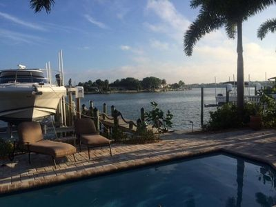 Photo for Intracoastal Home bring your  fishing poles