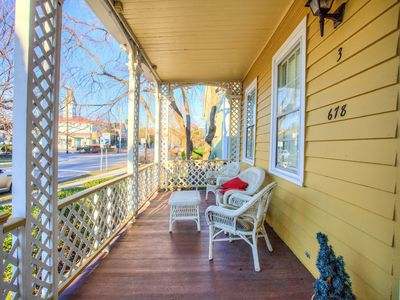 Photo for Location, location! Newly renovated, FIRST FLOOR apartment, on-site parking!