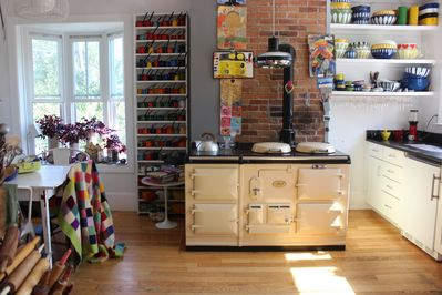 The kitchen is the only shared space. It is beautiful, clean and well equipped.