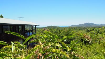 view of house overlooking rainforest to Coral Sea