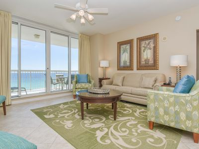 Photo for Spacious open concept beachfront condo w/private balcony!