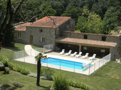 Photo for Typical Catalan farmhouse with a pool nearst in 150hectar of forest
