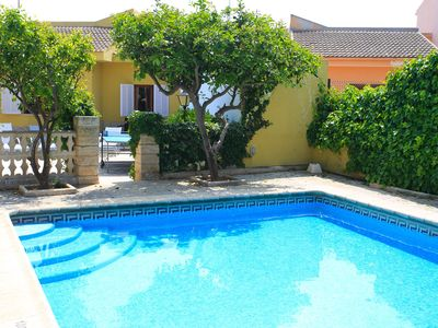 Photo for Beach Villa Miguel: Large Private Pool, Walk to Beach, A/C, WiFi, Car Not Required