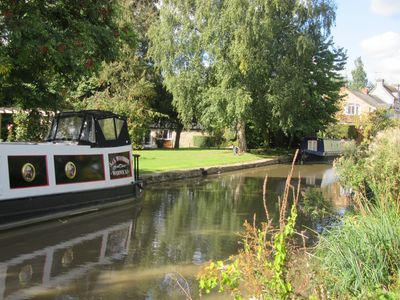 View from Towpath with Stables in back ground