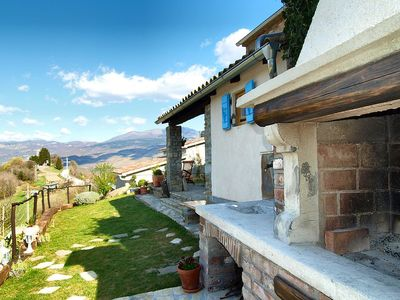 Photo for Magnificent stone house with panoramic views of mountain scenery