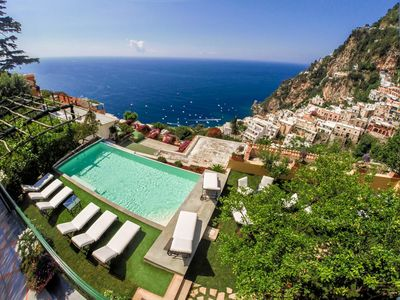 Photo for The Most Panoramic Villa In The Center Of Positano