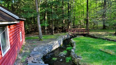 Photo for Three Bridges Cottage Retreat- 3 streams, 4 acres Poconos Paradise w/ Amenities
