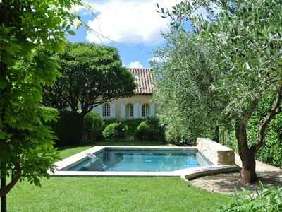 Photo for Charming Mas with exceptional views on Les Baux de Provence
