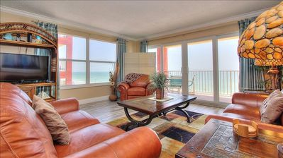 Photo for Corner Beachfront Features Magnificent Sunsets in Quiet Redington Beach!