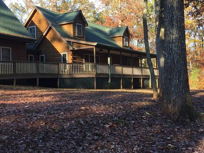 Photo for Reduced spring rates!  Secluded charming  log home surrounded by nature.