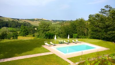Photo for Villa with private pool and panoramic view in the heart of Tuscany.
