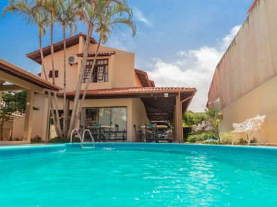 Photo for Beautiful house in Jurerê Internacional with pool and gourmet space
